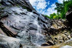 L'écrou d'hickory tombe dans le nord Carolina Unit de parc d'état de roche de cheminée images libres de droits