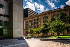L'édifice bancaire de banque fédérale de réserve et la station de sud à Boston, M photos stock