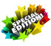 L'Édition spéciale exprime la question de version de collecteurs limitée par Starburst illustration stock