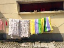 L'édredon raccrochent pour le soleil Photographie stock libre de droits