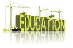 L'éducation de construction apprennent que la connaissance vont à l'école Images stock