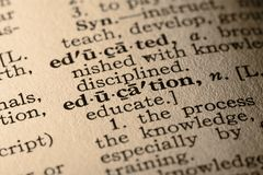 L'éducation de mot image libre de droits