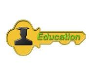 L'éducation est la clé Images stock