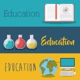 L'éducation fournit l'icône d'isolement par concept Photo stock