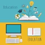 L'éducation fournit l'icône d'isolement par concept Image libre de droits