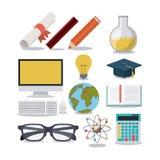L'éducation fournit l'icône d'isolement par concept Photographie stock libre de droits