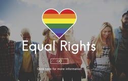 L'égal de LGBT redresse le concept de symbole d'arc-en-ciel Photos stock