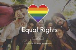 L'égal de LGBT redresse le concept de symbole d'arc-en-ciel Photo stock
