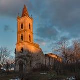 L'église abandonnée Images stock