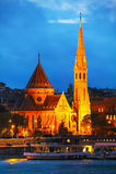 L'église calviniste de centre urbain de Budapest Photographie stock