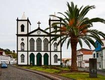 L'église catholique dans la ville Lajes font Pico Photo libre de droits