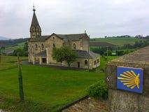 L'église catholique Shell crantent le symbole de la manière de St James photographie stock