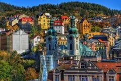 L'église centrale de Mary Magdalene à Karlovy Vary photos stock