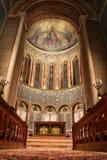 L'église changent et choeur fortement décoré d'abside de Wilton photos libres de droits