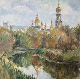 L'église couvre d'un dôme la photo d'automne image libre de droits