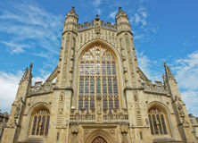 L'église d'abbaye du saint Peter et Paul à Bath photos stock