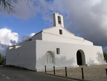 L'église d'Ibiza Photos stock