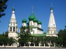 L'église d'Iliay le prophète. Yaroslavl. Russie Images libres de droits