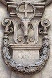L'église de l'alle Quattro Fontane, église de San Carlo de Rome, par Francesco Borromini photographie stock libre de droits