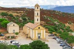 L'église de l'annonce en Sant Antonino, Corse image stock