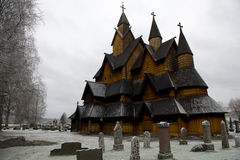 L'église de barre de Heddal est une église de barre située chez Heddal dans Noto Image stock
