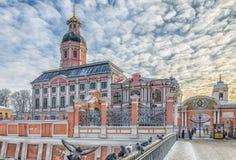 L'église de Blagoveschenskaya du lavra d'Alexander Nevsky Photographie stock libre de droits