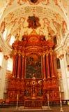 L'église de jésuite changent la luzerne Suisse Images stock