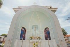 L'église de l'hypothèse a été fondée en 1786, il est située dans la rue de Farquhar, George Town Photo stock