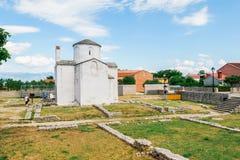 L'église de la croix sainte est une église catholique Pré-romane croate provenant du 9ème siècle de Nin Photographie stock