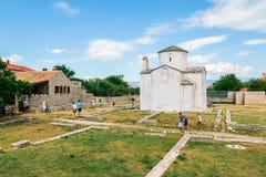 L'église de la croix sainte est une église catholique Pré-romane croate provenant du 9ème siècle de Nin Photos libres de droits