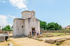 L'église de la croix sainte est une église catholique Pré-romane croate provenant du 9ème siècle de Nin Image libre de droits