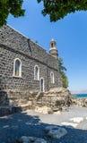 L'église de la primauté de St Peter dans Tabgha, Israël Image stock
