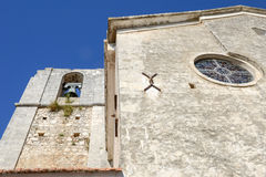L'église de Madre di Sant'Elia dans Peschici Image libre de droits