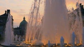 L'église de marbre, fontaine, Copenhague, Danemark, Scandinavie, Europe du Nord, l'Europe clips vidéos