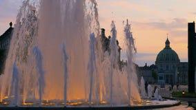 L'église de marbre, fontaine, Copenhague, Danemark, Scandinavie, Europe du Nord, l'Europe banque de vidéos