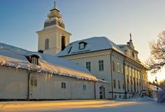 L'église de Mustasaari, Finlande Image stock