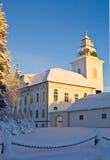L'église de Mustasaari, Finlande Photos stock