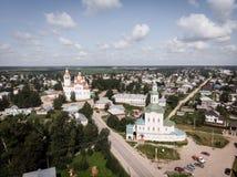 L'église de nativité, Totma, Russie Formes architecturales réminiscentes d'un bateau Vue de ci-avant photos stock