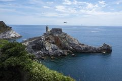 L'église de Portovenere Photo libre de droits
