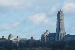 L'église de rive, New York Vue de NJ Images stock