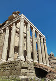 L'église de San Lorenzo en Miranda dans le forum romain Photographie stock libre de droits