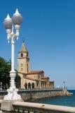 L'église de San Pedro dans Gijón Images libres de droits