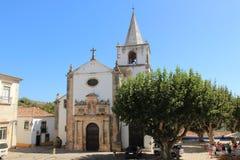 L'église de Santa Maria dans Obidos, Portugal village du Portugal d'obidos photo stock