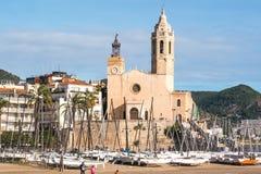 L'église de Sitges photo stock