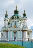 L'église de St Andrew, Kiev, église orthodoxe photographie stock libre de droits