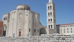 L'église de St Donatus dans Zadar, Croatie clips vidéos