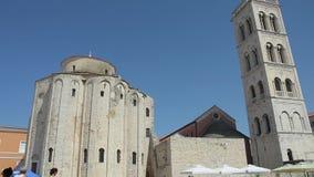 L'église de St Donatus dans Zadar, Croatie banque de vidéos
