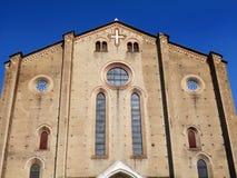 L'église de St Francis dans la ville de Bologna photographie stock libre de droits