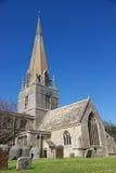 L'église de St Mary, village de Bampton, Angleterre Images libres de droits