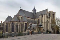 L'église de St Michael, Gand, Belgique images libres de droits
